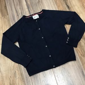 Zara Knitwear Collection Navy Blue Cardigan Button